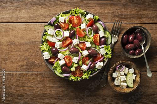 Photo Stands Ready meals Greek salad