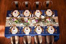 Navy Blue And Gold Wedding Rec...