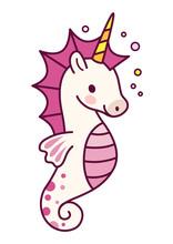 Cute Unicorn With Purple Mane ...