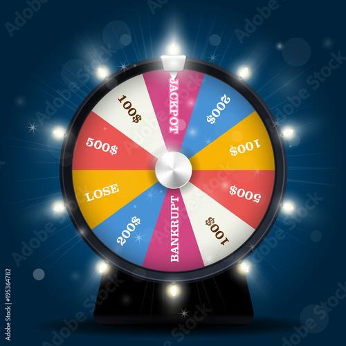 Fotografía  Jackpot on wheel of fortune - lottery win