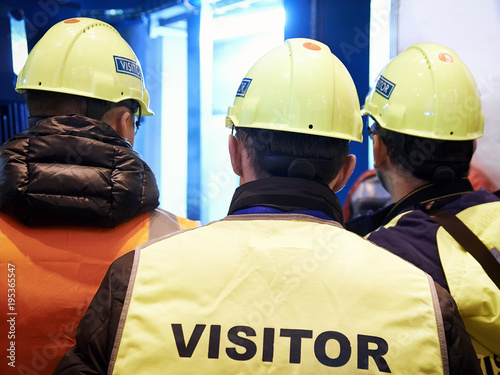 Fotografie, Obraz  group of visitors on the factory tour