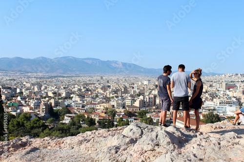 City view ofAthens, Attica, Greece Canvas Print