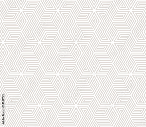 Foto op Plexiglas Abstract wave Abstract geometric pattern with stripes, lines. A seamless vector background. White and grey ornament.