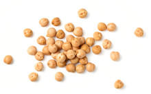 Uncooked Chickpea Isolated On ...