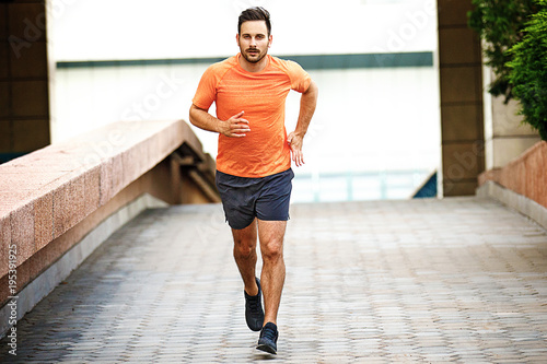 Foto Man is jogging