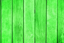 Green Wooden Background Pattern With Copy Space