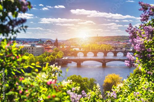 Spring day in the city, Prague, Czech Republic