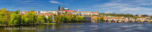 Printed kitchen splashbacks Prague Prague panorama city skyline with Old Town, Prague Castle, Charles Bridge, St. Vitus Cathedral. Prague, Czech Republic