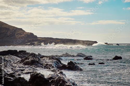 Tuinposter Canarische Eilanden Beautiful landscape of Lanzarote Island