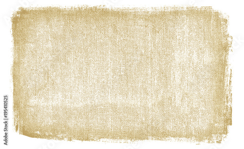 Fotografie, Obraz  Burlap rough fabric background with dirty brown texture