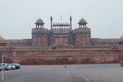 Tuinposter Delhi Red Fort in New Delhi India