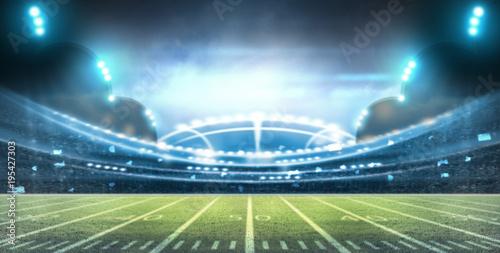 Plakat stadion futbolu amerykańskiego 3D.