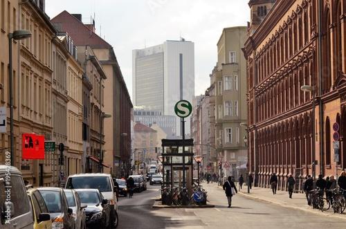 obraz PCV Berlin Mitte street life