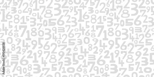 Fotografía  Numbers background. Seamless pattern.Vector. 数字のパターン