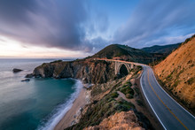 The Bixby Creek Bridge At Dusk