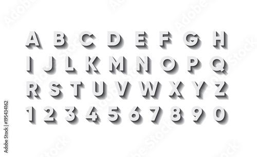 Foto voluminous stylish fashionable English font