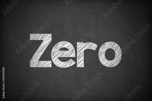 Zero on Textured Blackboard. Canvas Print