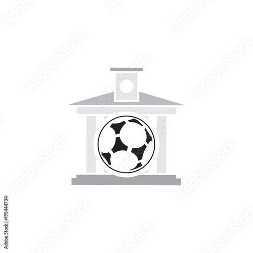 Fotografie, Tablou  Soccer Law Firm Logo Icon Design