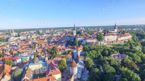 Photo Stands Nice Aerial view of Tallinn skyline, Estonia