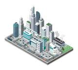 Fototapeta Miasto - Smart city and technology