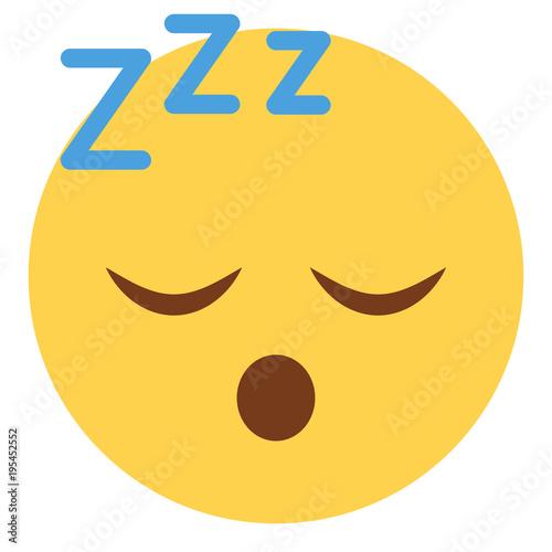 Fotografia Emoji schlafend