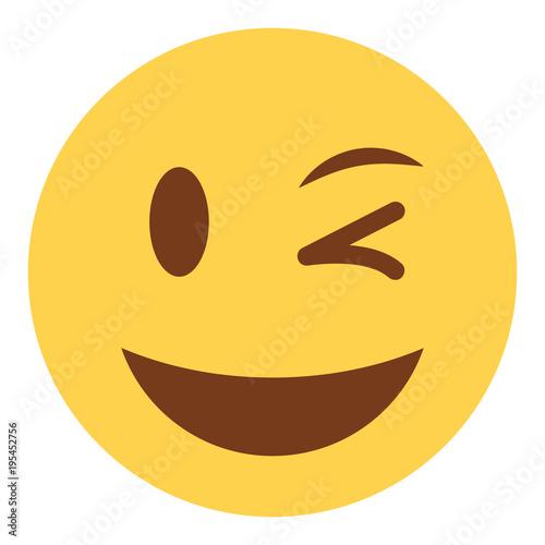 Photo Emoji zwinkernd