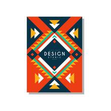 Design Ethnic Style Card, Ethn...