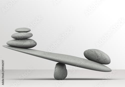 Photo  Zen basalt stones