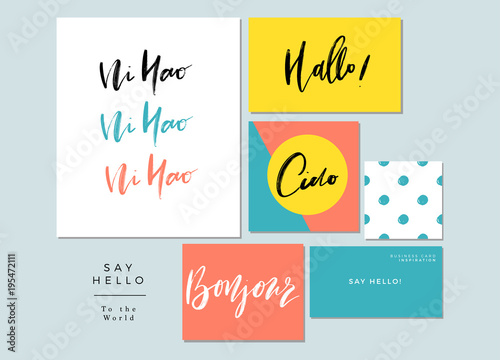 Say hello stationery collectiona set of words hello in different say hello stationery collectiona set of words hello in different language greetings m4hsunfo