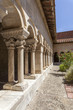 Romanesque cloister of monastery of Elne,Languedoc-Roussillon,France.