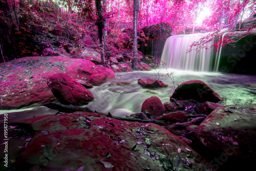 Tuinposter Watervallen Landscape photo,Waterfall in Phu kradueng national park, beautiful waterfall in Thailand