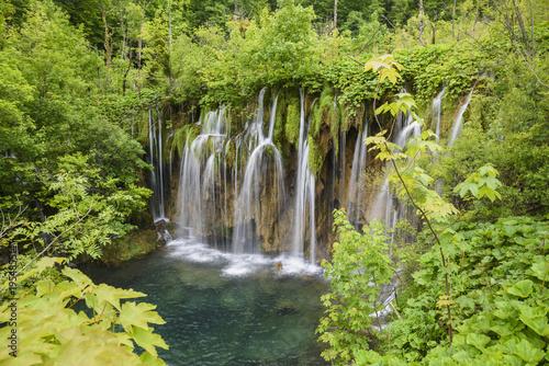 Deurstickers Watervallen Plitvice Lakes National Park, UNESCO World Heritage Site, Croatia, Europe