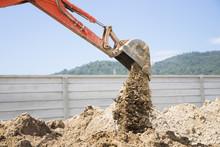 Excavator Working At Construct...