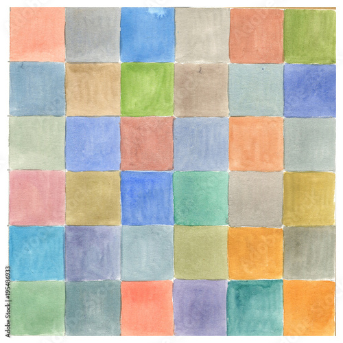 Fototapety, obrazy: watercolor background, texture, squares