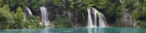Fototapeta Landscape image of the Plitvice Lakes national park obraz
