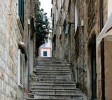 Fototapeta Fototapety na drzwi - stairs in the old town of Dubrovnik, Croatia
