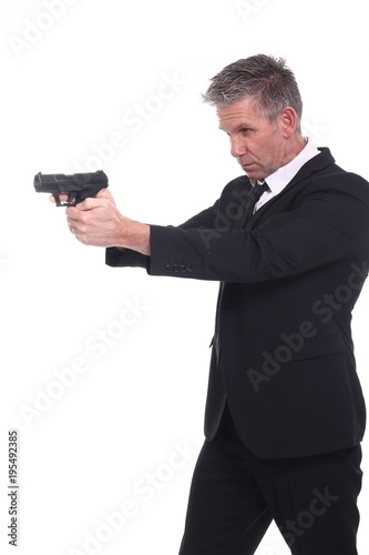 Fototapety, obrazy: Man with a gun