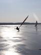 Eissegler auf dem Neuwarper See