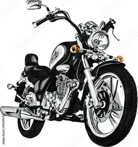 Poster Motorcycle Vector motorbike. High detailed vector