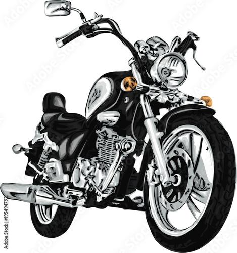Keuken foto achterwand Motorfiets Vector motorbike. High detailed vector
