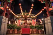 Chinese Temple In Yokohama Or Kanteibyo (Kuan Ti Miao Temple) Very Famous Temple