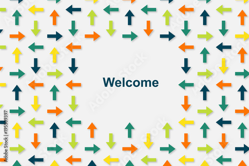 Wallpaper Pfeile - Welcome Canvas Print