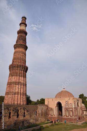 Stickers pour porte Delhi Qutb Minar, Delhi, Northern India