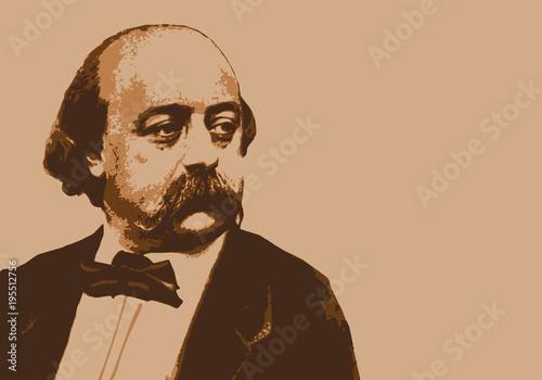 Canvastavla Flaubert - écrivain - portrait - personnage célèbre - littérature - célèbre - li