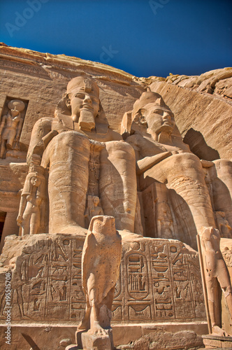 Photo  Abu Simbel with Horas