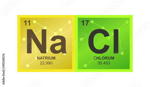 Vector Symbol Of Sodium Chloride Which Consists Of Sodium And