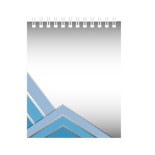 Notepad With Blue Lines Design...