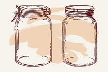 Vintage Hand Drawn Jars