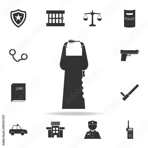 Fotografie, Obraz  Stun gun icon