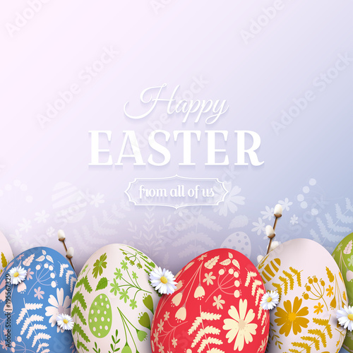 Traditional Easter background Canvas Print